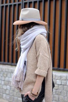 Утепляйтесь стильно! Носите модные шарфы и палантины из меха и шерсти