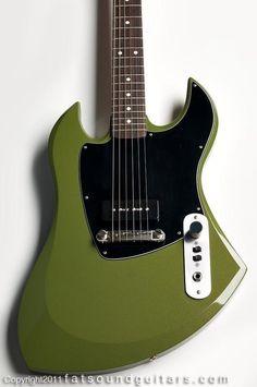 Motorave-Lemans seyffert green metalic guitar.