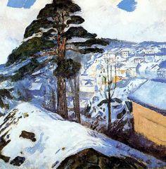 Munch, Edvard (Norvegian, 1863-1944) - Winter at Kragerö - 1912 | Flickr - Photo Sharing!