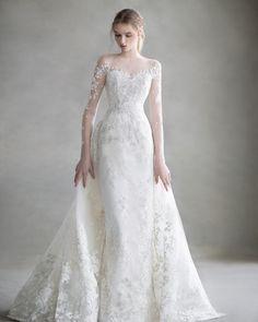 bonheur sposa :: J.H 045 Wedding Long Wedding Dresses, Wedding Dress Styles, Bridal Dresses, Mermaid Dresses, Wedding Gowns, Boho Wedding, Weeding Dress, Marie, Dress Lace