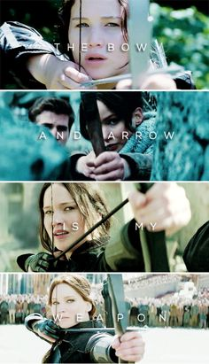 The bow and arrow is my weapon. #thg