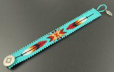 off loom beading techniques Loom Bracelet Patterns, Bead Loom Bracelets, Bead Loom Patterns, Jewelry Patterns, Beading Patterns, Beading Ideas, Beading Supplies, Indian Beadwork, Native Beadwork