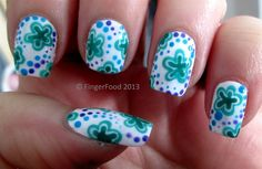 Retro Floral - Nail Art Gallery