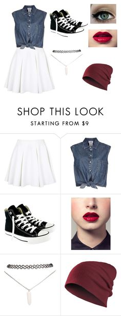 """Untitled #57"" by natalie-maxine-24 ❤ liked on Polyvore featuring Topshop, Jean-Paul Gaultier, Converse and Wet Seal"