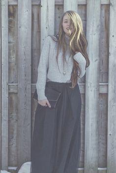 turtleneck + maxi  winter style