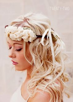 bohemian wedding hair crown (by florabond, photo by jaclyn davis)