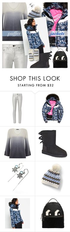 """""""Perfect Puffer Jackets"""" by sinesnsingularities ❤ liked on Polyvore featuring rag & bone, Superdry, Mint Velvet, UGG, Disney, Lands' End, Les Petits Joueurs, contest, trending and puffers"""
