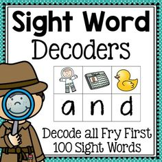 Sight Word Decoders (Common Core Aligned)Students will love becoming sight word sleuths with these fun decoders! Each word decoder has pictures of words and space to write the correct beginning sounds underneath. The beginning sounds for each picture stand for one letter in each word.
