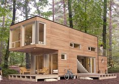 MEKA shipping container structure homes (not actual shipping containers)