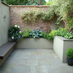 sunken Garden room Exciting Room Layout In the sec. - sunken Garden room Exciting Room Layout In the second proposal, the g - Small Courtyard Gardens, Small Courtyards, Back Gardens, Small Gardens, Courtyard Ideas, Fairytale Garden, Sunken Garden, London Garden, Gardening