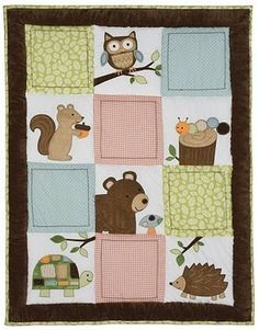 Image result for woodland animals baby quilt ideas