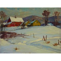 View Farm in winter by Aldro Thompson Hibbard on artnet. Browse upcoming and past auction lots by Aldro Thompson Hibbard. Winter Scenery, Winter Trees, Winter Art, Painting Snow, Winter Painting, Amazing Paintings, Snow Scenes, Country Art, Winter Landscape