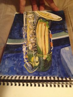 Learning Water Colours The SB's Sax. October 2014, Calgary, Canada.