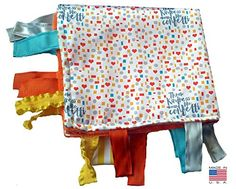 """#stylish Name: #Baby #Jack Sensory Blanket Shapes Kindness Confetti Educational Lovey Made in USA Size: 14"""" X 18"""" Condition: New in Bag with tags Color(s): Multi-..."""