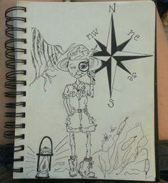 #explorer #scout #compass # ink #pen #sketch #doodle #illustration