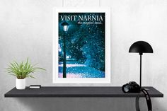 Narnia Lamp Post Travel Poster Style Art Print by HarknettPrints