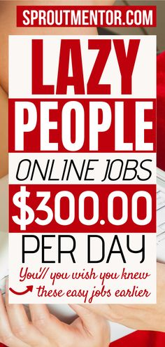 20 jobs for lazy people looking for ways to make money online while you work from home during your spare time. You do not need any experience or college degree to make extra cash with these online jobs from home and low stress jobs. #onlinejobs #workfromhomejobs #makemoneyonline #sidejobs #parttimejobs #money #finance #lazy #jobsforlazypeople #lowstressjobs #stayathomejobs #workathomejobs