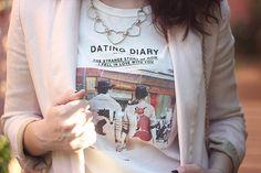 Camiseta linda e apaixonada da Zara