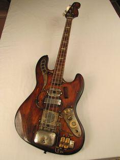 Sparkycaster bass guitar by Tony Cochran