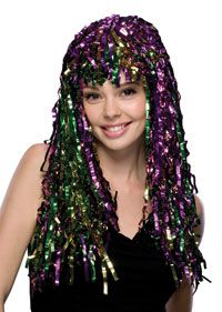 Tinsel Mardi Gras Wig - Mardi Gras Costumes