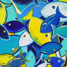 "Painting : ""Basket of Fish (Original art by Shawn Ardoin) – Fish Supplies Original Art, Original Paintings, Fish Crafts, Fish Art, Beach Art, Art Plastique, Pet Birds, Art Pictures, Art Lessons"