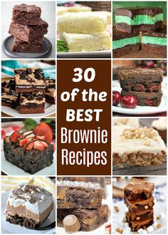 We gathered up the Best Brownie Recipes and you are going to LOVE these! From classic chocolate brownies to jazzed-up brownie bars, there's a recipe here that's sure to satisfy your sweet tooth. Chocolate Mousse Brownies Recipe, Chocolate Chip Cookie Brownies, Best Brownie Recipe, Cookie Brownie Bars, Best Brownies, Cookie Desserts, Brownie Recipes, Easy Desserts, Cookie Recipes