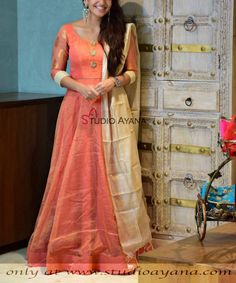 Order contact my whatsapp number 7874133176 - Salvabrani Indian Long Dress, Indian Gowns, Indian Wear, Indian Outfits, Long Gown Dress, Frock Dress, Dress Neck Designs, Blouse Designs, Fashion Wear