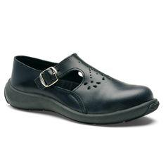 Chaussures de sécurité S.24 Ligne Executive Modèle Eva Noir S1P Réf. 8872 • Tige cuir VERPELLE noir • Doublure textile • Embout acier • Semelle anti-perforation inox • Semelle extérieure TPU light • Semelle intérieure SENSATION+