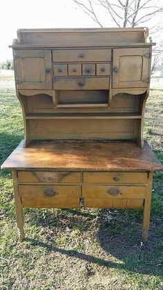 Antique Baker's Cabinet 013 | Hoosier cabinet, Vintage kitchen and ...