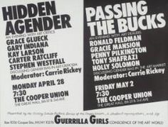 Guerrilla Girls 'Hidden Agender/Passing The Bucks', 1986 © courtesy www.guerrillagirls.com