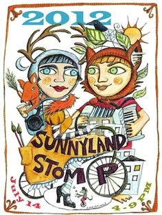 Sunnyland Stomp information: features art galleries, artisan food, family activities  @livegoodbehappy   www.livegoodbehappy.com Bellingham, WA