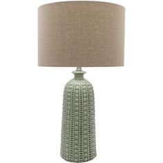 Neutral and textural Newell table lamp from Surya's expanded lighting collection (NEW-200).
