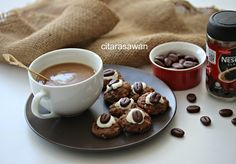 Biskut Ombak Rindu / Coffee Chocolate Rice Cookies