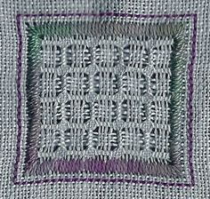 Pulled Thread. Satin StepKathrin's Blog: Pulled Thread 15 sided biscornu