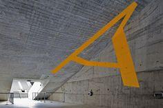 Eduardo Souto Moura, Braga Stadium , Signage. 2004 by António Queirós Design, via Behance