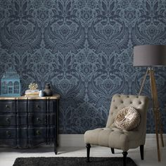 Graham & Brown offers a wide selection of Damask wallpaper and wall coverings for your home. Shop for modern design wallpaper and Damask wall coverings now. Grey Removable Wallpaper, Embossed Wallpaper, Damask Wallpaper, Wallpaper Decor, White Wallpaper, Modern Wallpaper, Designer Wallpaper, Denim Wallpaper, Geometric Wallpaper