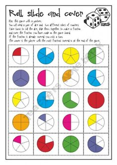 Waldorf ~ 4th grade ~ Math ~ Fractions ~ game ~ Play this game together with the images drawn on the chalkboard