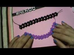 Como tejer abanico vertical con punto alto ganchillo, crochet strip, cord DIY - YouTube