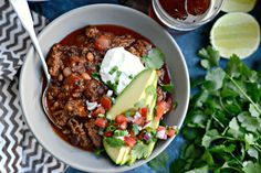 Inspired from a favorite chili recipe my kids order, this ancho chorizo chili is bursting with flavor! And dinner will be ready in 1 hour! SO easy, so good!