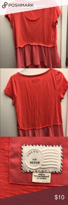 Anthropologie coral top. Anthropologie coral top. Worn once. Smoke free home. Anthropologie Tops