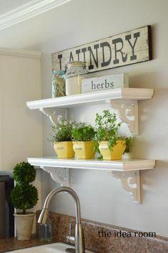 """Find out even more details on """"laundry room storage diy shelves"""". Look into our website. Diy Home Decor, Room Decor, Thrifty Decor, Wall Decor, Wall Art, Diy Casa, Wooden Shelves, Diy Shelving, Floating Shelves"""