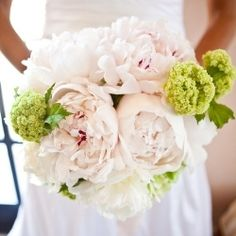 Luscious pale pink peony bouquet