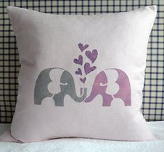 etsy elephant pillow cover
