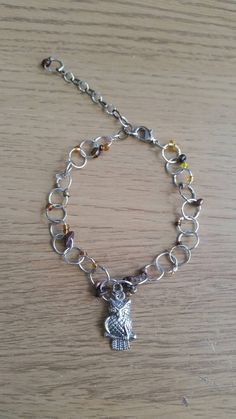 Check out this item in my Etsy shop https://www.etsy.com/uk/listing/244523599/owl-charm-link-bracelet