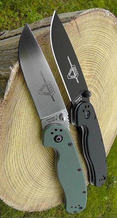 Ontario RAT II EDC Folding Knife Blade - Everyday Carry Gear Knife