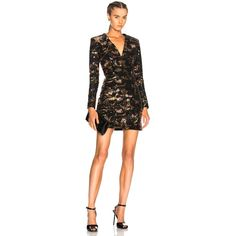 BALMAIN Sequined Mini Dress (102.825 RUB) ❤ liked on Polyvore featuring dresses, padded shoulder dress, back zipper dress, shoulder pad dress, short dresses and short sequin dress