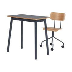 MADE Essentials Mino Desk and Office Chair, Grey | MADE.com