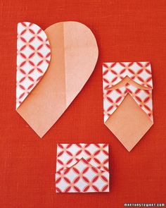 Paper heart wrappers