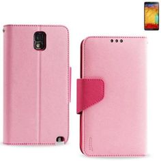 myLife Light Pink {Classic Smooth Design} Faux Leather (Card, Cash and ID Holder + Magnetic Closing) Slim Wallet for Galaxy Note 3 Smartphon...