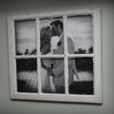 Love the idea of putting one big photograph behind a split frame. Gives it a window-like quality. Would be great with landscapes.
